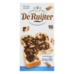 Een afbeelding van De Ruijter Chocoladevlokken melk De Ruijter Chocoladevlokken melk