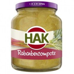 Chop rhubarb compote
