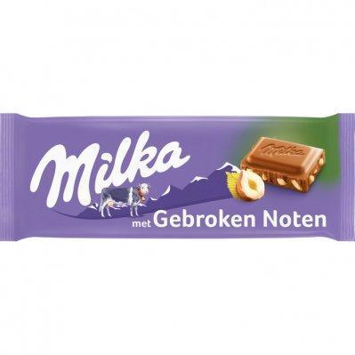 Milka Bar of broken nut