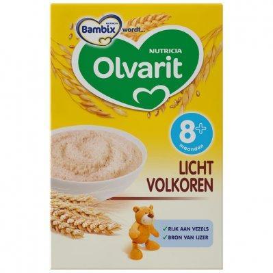 Olvarit Sunny breakfast porridge light wholemeal 8 months