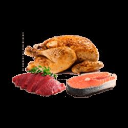 Meat, fish, chicken