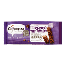 products consenza gluten free choco teff fingers