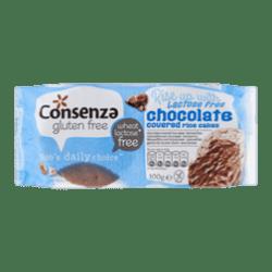 products consenza glutenvrije lactosevrije rijstwafels met chocolade 6 crackers