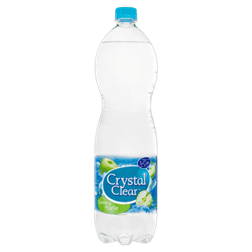 products crystal clear sparkling apple bottle