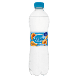 products crystal clear sparkling peach bottle