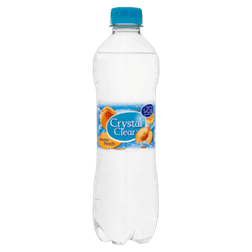 products crystal clear sparkling peach fles