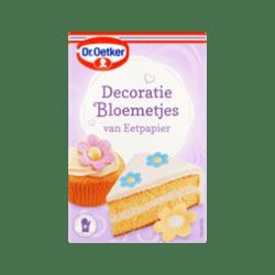 products dr. oetker decoratie bloemetjes van eetpapier