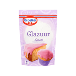 products dr. oetker glazuur roze frambozensmaak