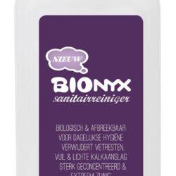 products etiket barcode bionyx 750ml fles sanitairreiniger voor