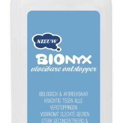 products etiket barcode bionyx 750ml fles vloeibareontstopper voor
