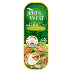products john west gerookte makreelfilets in zonnebloemolie