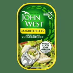 products john west makreelfilets met een vleugje zonnebloemolie