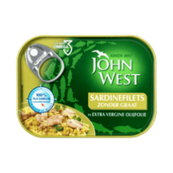products john west sardinefilets zonder graat in extra vergine olijfolie