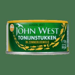 products john west tonijnstukken in zonnebloemolie