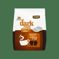 products jumbo dark roast 36 koffiepads