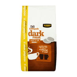 products jumbo dark roast 56 koffiepads