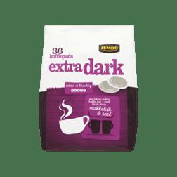 products jumbo extra dark 36 koffiepads