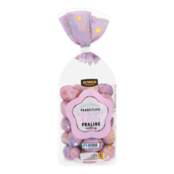 products jumbo spring topper Easter eggs milk white pure praline filling
