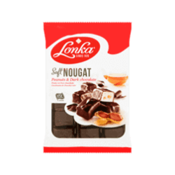 products lonka zachte nougat pure chocolade pinda s