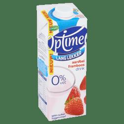 products optimel lang lekker aardbei framboos drink 0 vet 1