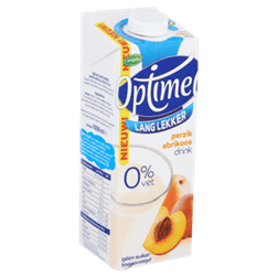 products optimel long tasty peach apricot drink 0 fat