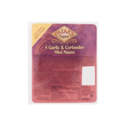 products patak s original 4 garlic coriander mini naans 1