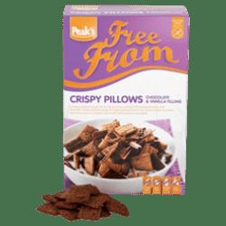 products peak s free from crispy pillows met choco vanillevulling