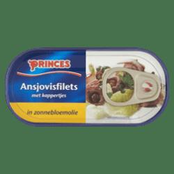 products princes ansjovisfilets met kappertjes in zonnebloemolie