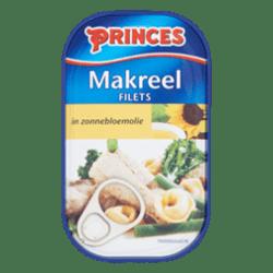 products princes makreelfilets in zonnebloemolie