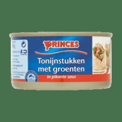 products princes tonijnstukken met groenten in pikante saus