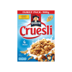 products quaker cruesli 4 nuts family pack