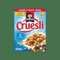 products quaker cruesli 4 nuts family pack