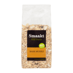 products smaakt biologisch basis muesli