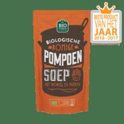 products umbo soep in zak biologische romige pompoen soep met wortel en paprika