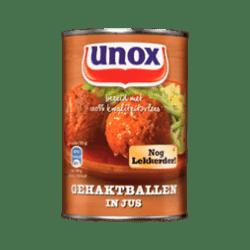 products unox gehaktballetjes in jus
