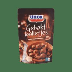 products unox gehaktballetjes in pittige sat saus