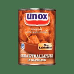 products unox gehaktballetjes in sat saus