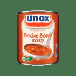 products unox soep in blik stevige bruine bonensoep