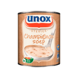 products unox soep in blik stevige champignonsoep