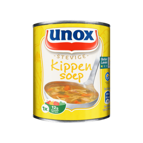 products unox soep in blik stevige kippensoep 1