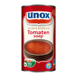 products unox soep in blik tomatensoep