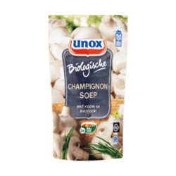 products unox soup in bag organic mushroom