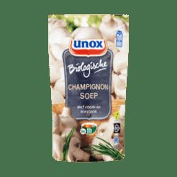 products unox soep in zak biologische champignon