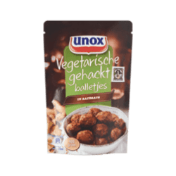 Minced Meat products unox vegetarian meatballs in sauce satellite