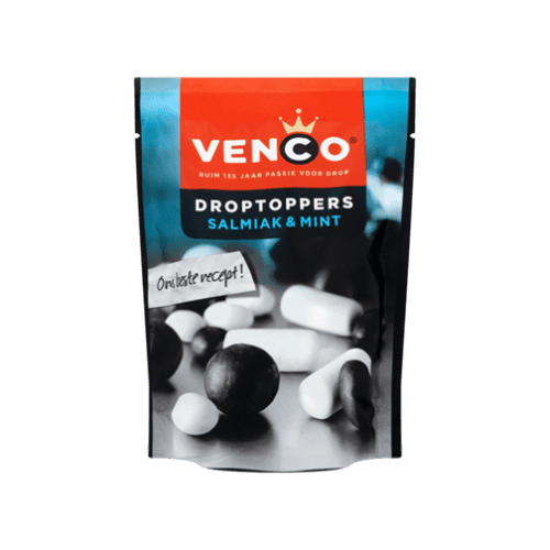 Venco Droptoppers salmiak & mint