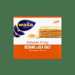 products wasa delicate crisp sesame sea salt