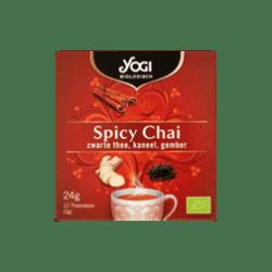 products yogi biologisch spicy chai zwarte thee kaneel gember