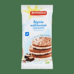 products zonnatura belgische melkchocolade rijstwafels